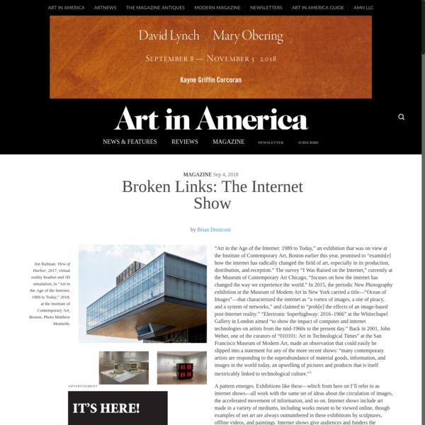 Broken Links: The Internet Show - Art in America
