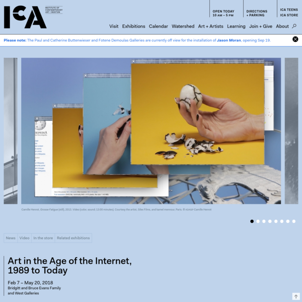 Art in the Age of the Internet, 1989 to Today | icaboston.org