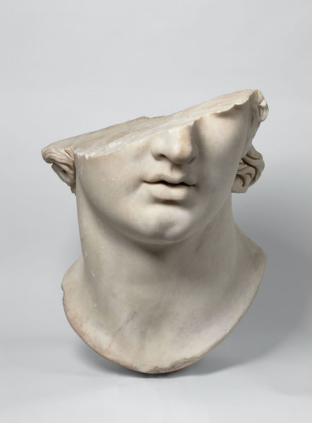 Fragmentary colossal head of a youth, Greek, Hellenistic period (2nd century B.C.E.)