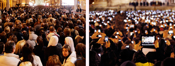Not a single difference: Pope Benedict's Inauguration in 2005 vs. Pope Francis' Inauguration in 2013