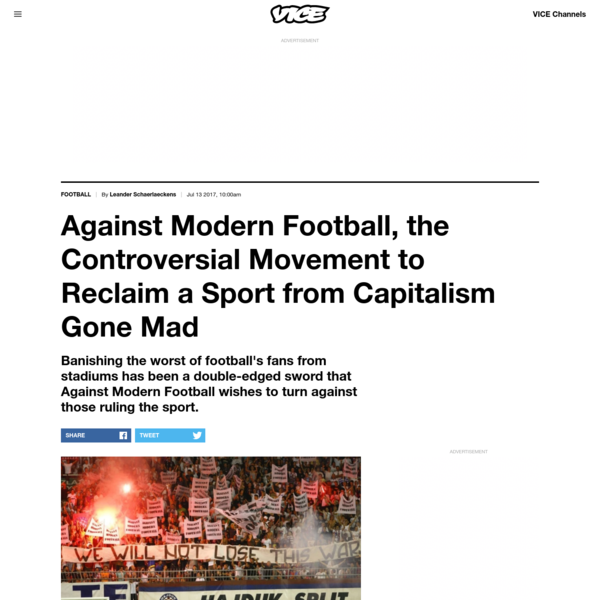 Against Modern Football, the Controversial Movement to Reclaim a Sport from Capitalism Gone Mad