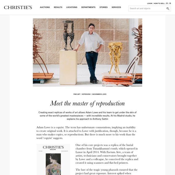 Meet the master of reproduction | Christie's