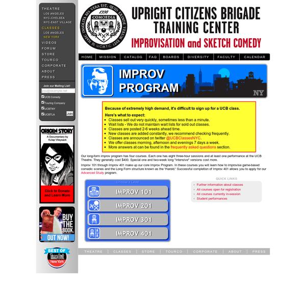 UCB Training Center * New York * Improv Program
