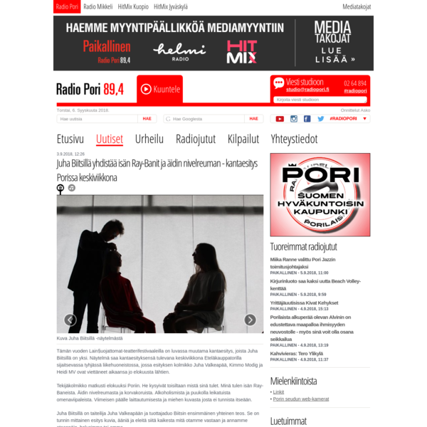 a radio interview in Radio Pori