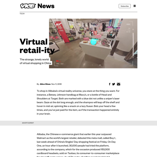 The strange, lonely experience of shopping in Alibaba's VR world