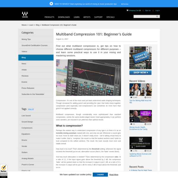 Multiband Compression 101: Beginner's Guide | Waves