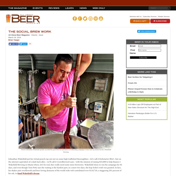 Crowdfunding Beer