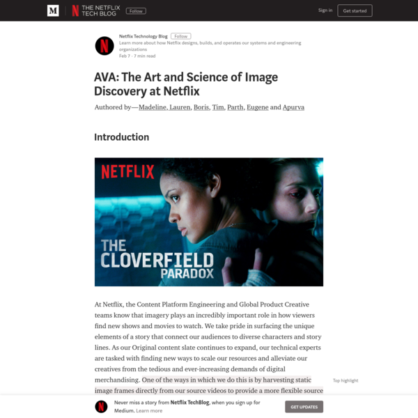 AVA: The Art and Science of Image Discovery at Netflix