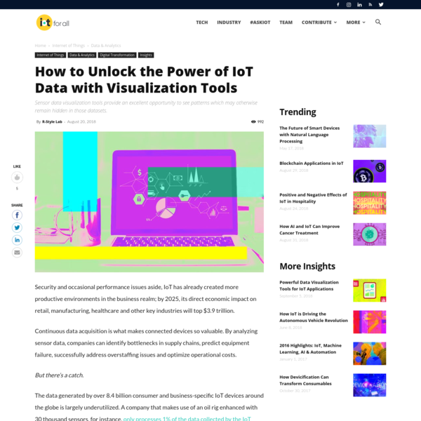 Security and occasional performance issues aside, IoT has already created more productive environments in the business realm; by 2025, its direct economic impact on retail, manufacturing, healthcare and other key industries will top $3.9 trillion. Continuous data acquisition is what makes connected devices so valuable.