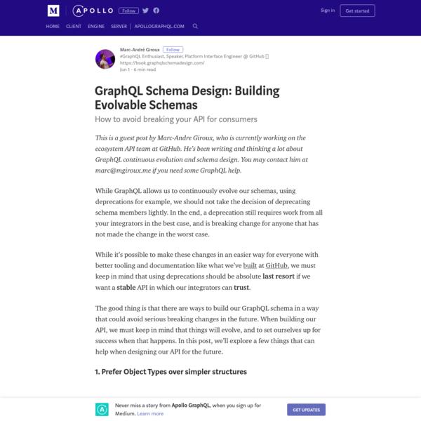 GraphQL Schema Design: Building Evolvable Schemas - Apollo GraphQL
