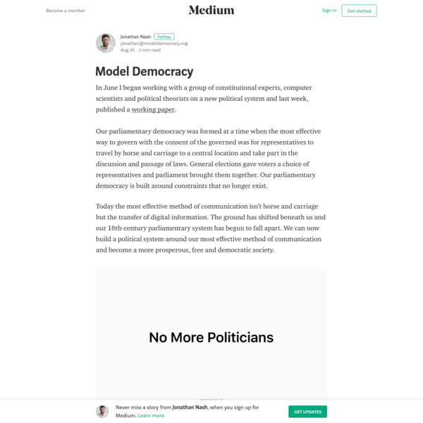 Model Democracy - Jonathan Nash - Medium