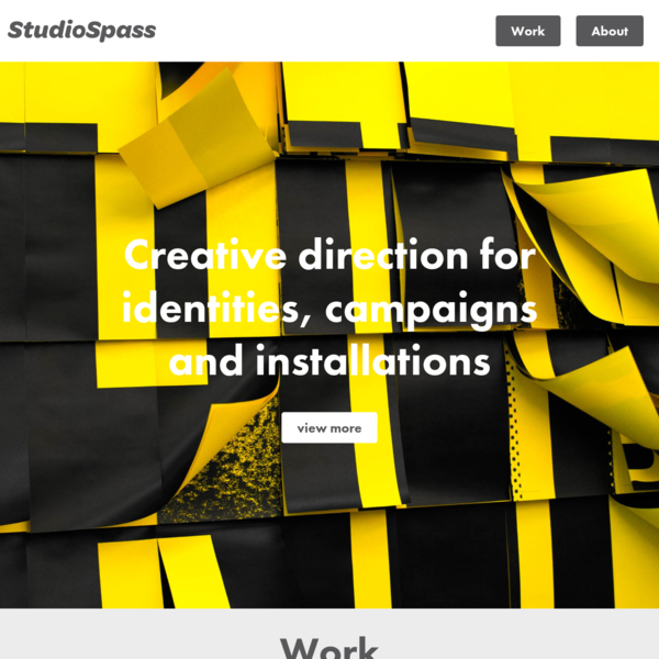 StudioSpass | Creative direction for identities, campaigns and installations