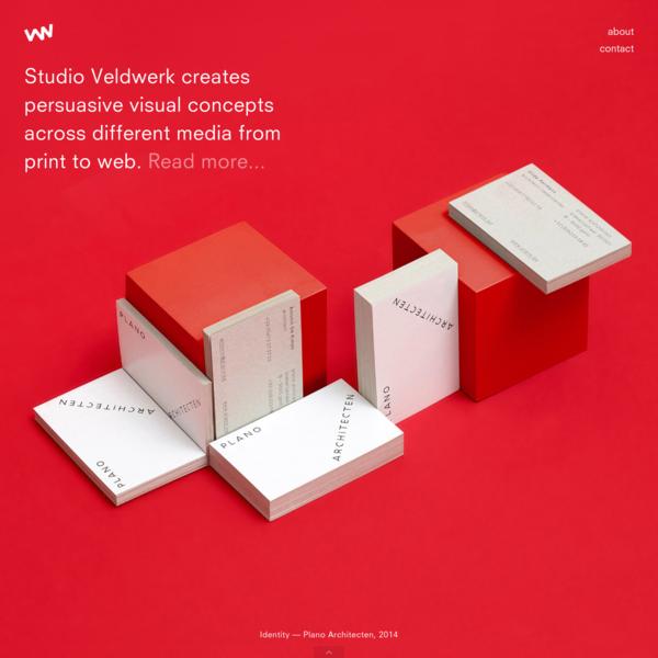 Studio Veldwerk | Graphic Design Studio - home