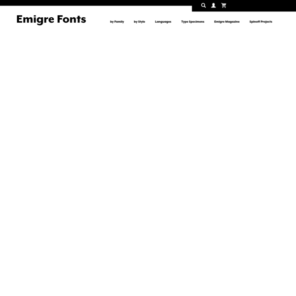 Emigre, Inc. is a digital type foundry based in Berkeley, California. Founded in 1984, coinciding with the birth of the Macintosh computer, the Emigre team, consisting of Rudy VanderLans and Zuzana Licko, with the addition of Tim Starback in 1993, were among the early adaptors to the new technology. ( More...)