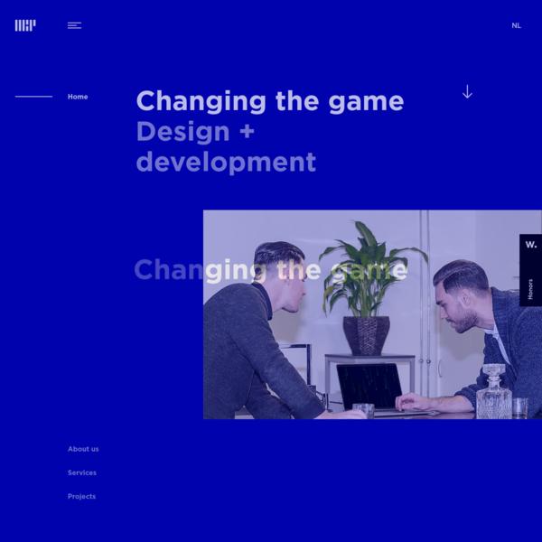 Changing the game - Studio for digital design + development