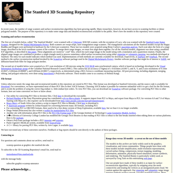 The Stanford 3D Scanning Repository