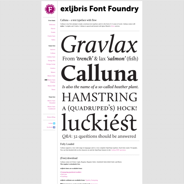exljbris is Jos Buivenga's Font Foundry.