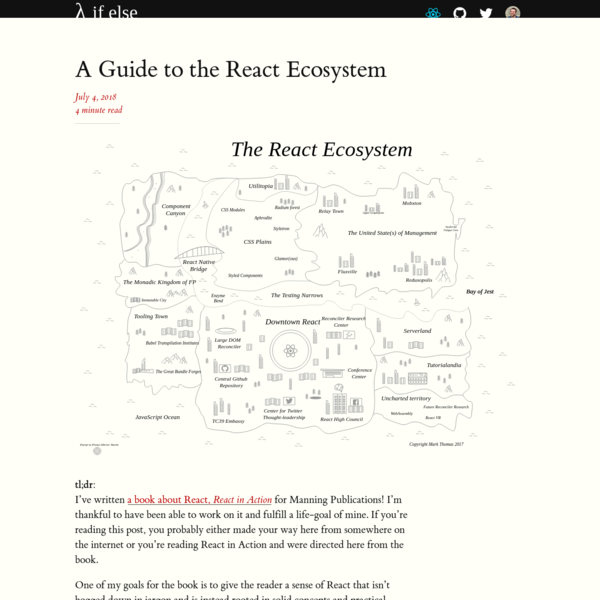 A Guide to the React Ecosystem