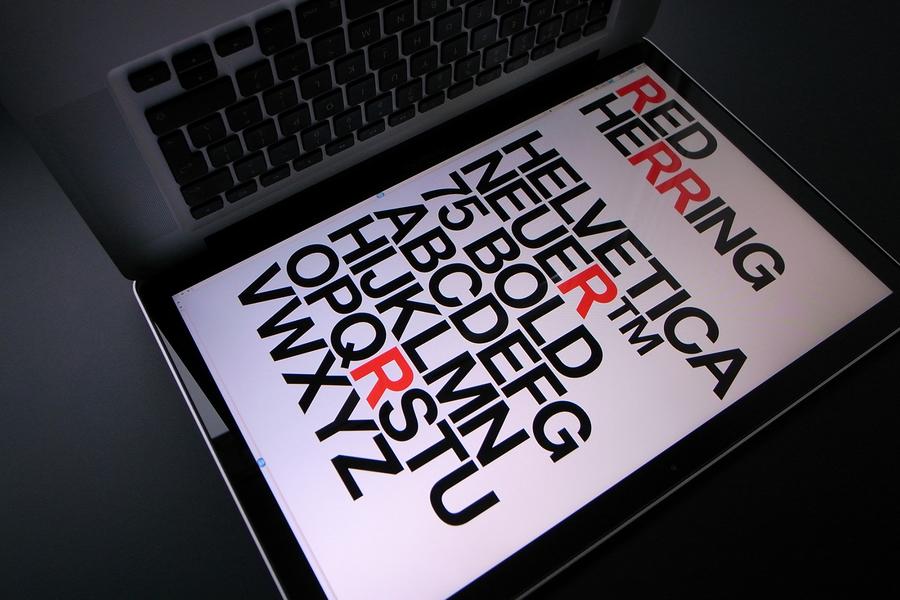 Red Herring Helvetica Neuer™  Grafik Magazine