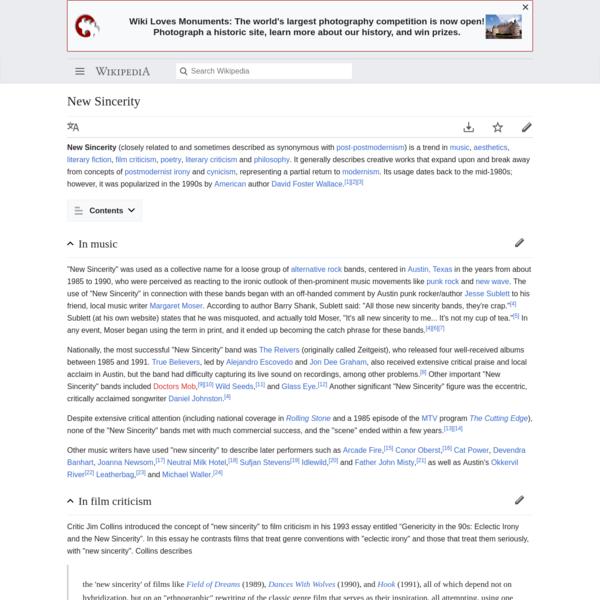 New Sincerity - Wikipedia