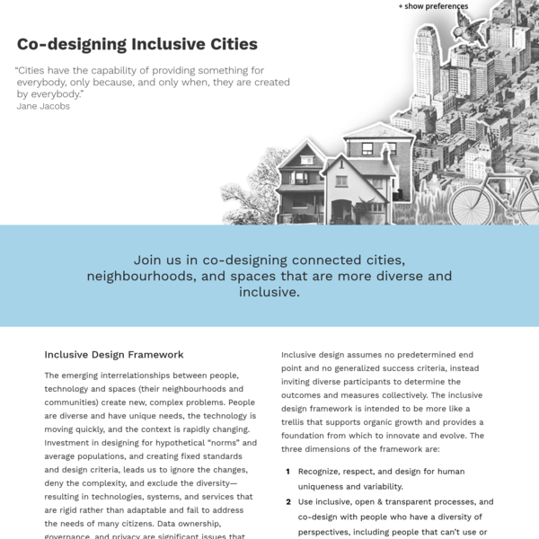 Co-designing Inclusive Cities