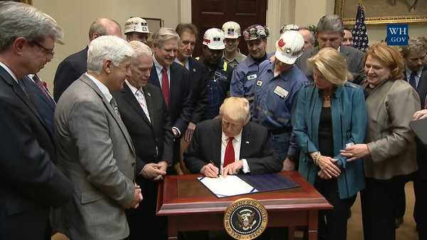 Trump signs resolution to permit dumping mining waste into waterways