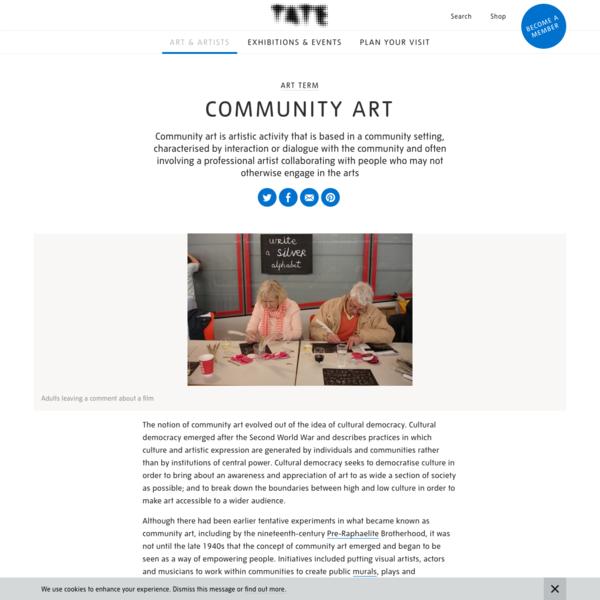 Community art - Art Term | Tate