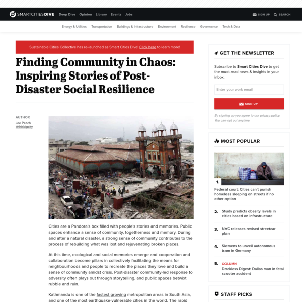 Finding Community in Chaos: Inspiring Stories of Post-Disaster Social Resilience