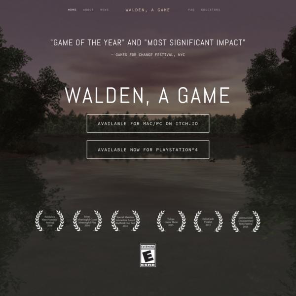 Walden, game, Thoreau, videogame, experimental, art, humanities, Transcendentalism, literature