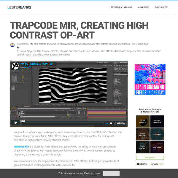 Trapcode MIR, Creating High Contrast Op-Art - Lesterbanks