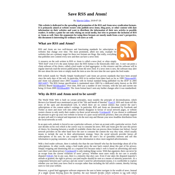 Save RSS!