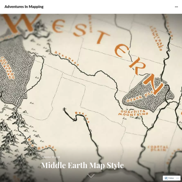 Middle Earth Map Style