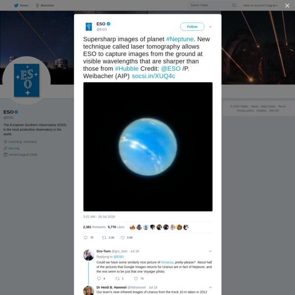 ESO on Twitter