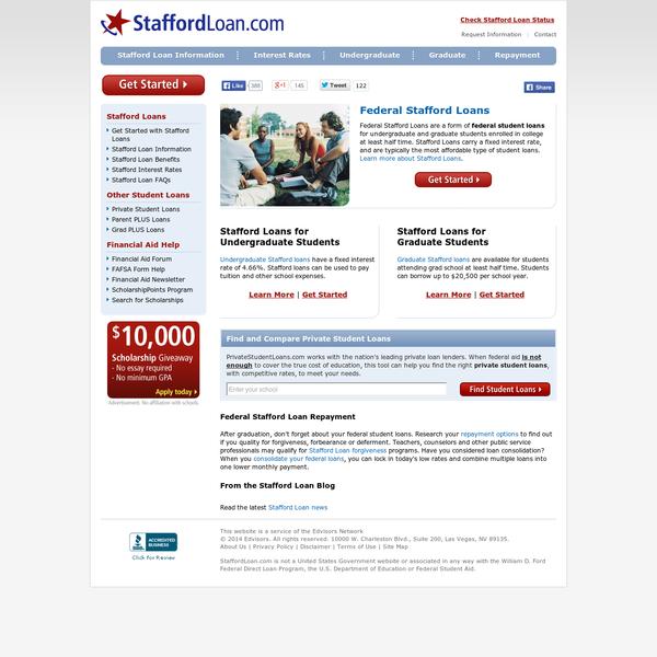 federal stafford loans, student loans