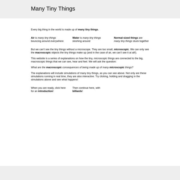 Many Tiny Things