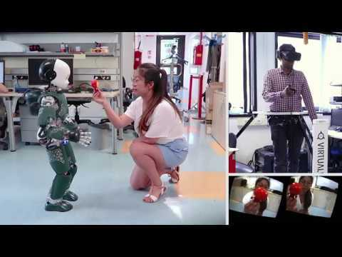 """Cite this contribution - Teleoperation: """"Telexistence and Teleoperation for Walking Humanoid Robots"""" submitted to IEEE Humanoids 2018, online at https://arxiv.org/abs/1809.01578 - Walking: """"A Benchmarking of DCM Based Architectures for Position and Velocity Controlled Walking of Humanoid Robots"""" submitted to IEEE Humanoids 2018, online at https://arxiv.org/abs/1809.02167 This video shows the latest results achieved by the Dynamic Interaction Control Lab at the Italian Institute of Technology on teleoperated walking and manipulation for humanoid robots."""