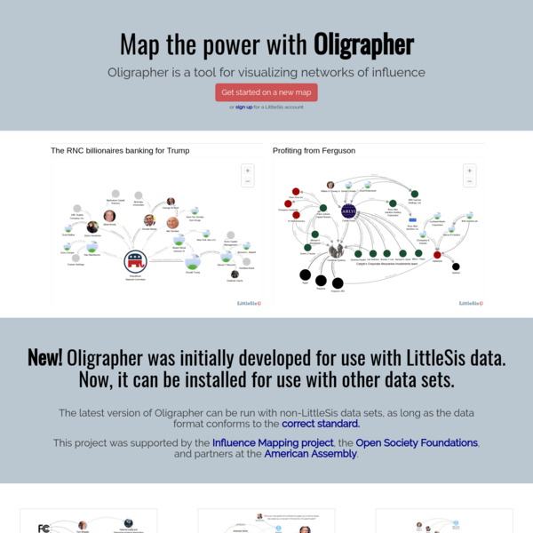 Map the Power with Oligrapher - LittleSis