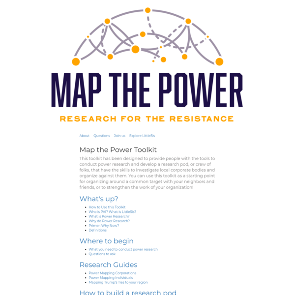 Map the Power - LittleSis