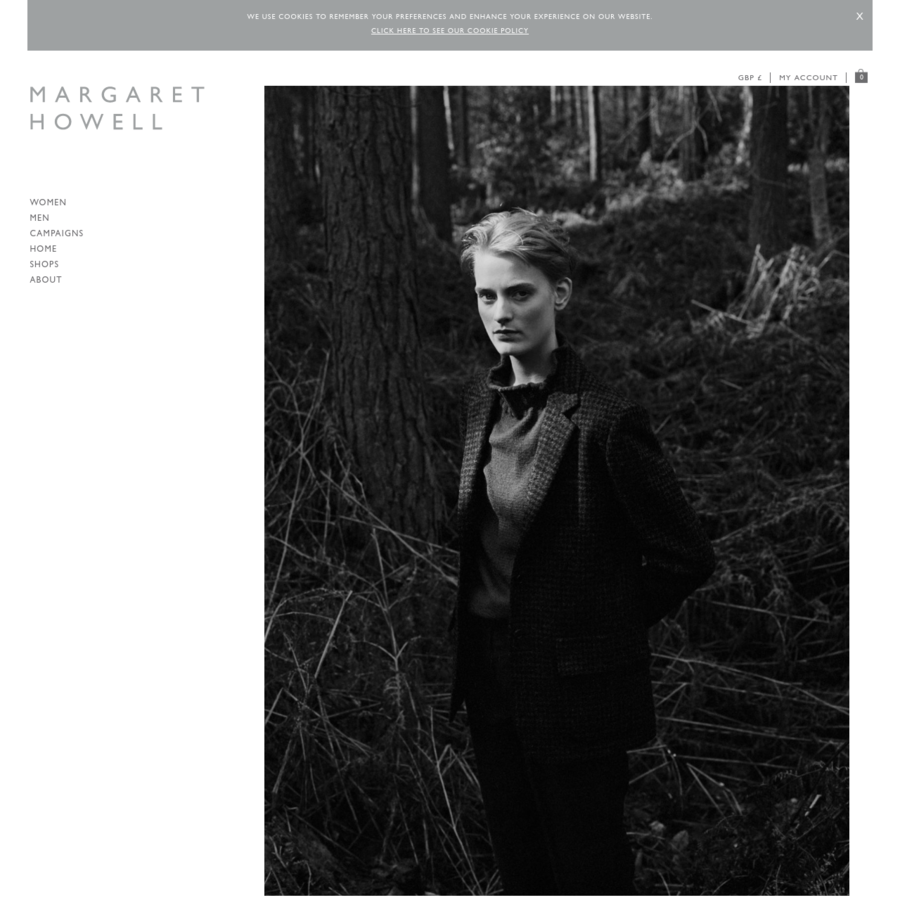 Margaret Howell is a contemporary British clothing designer.