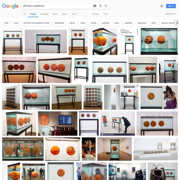 jeff koons equilibrium - Google Search