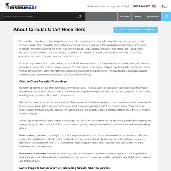 About Circular Chart Recorders | Instrumart