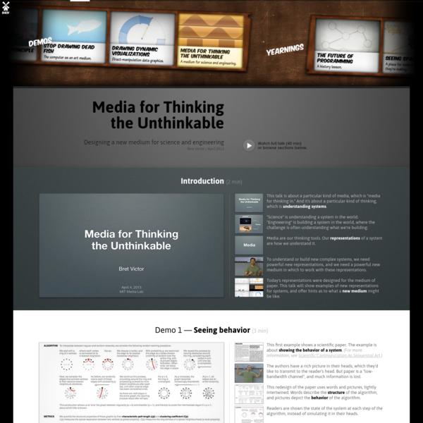 Media for Thinking the Unthinkable