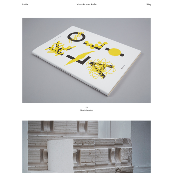 Martin Frostner Studio: Martin Frostner Studio is a design agency based in Stockholm. The studio works across a variety of media, from books, posters, brand identities and stationery to exhibition design, signage and websites.