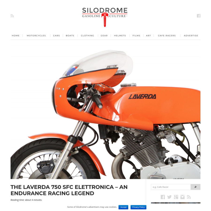 The Laverda 750 SFC Elettronica is the most desirable of the Italian company's first big twins, and it's not just sought-after for its looks - the 750 SFC took a slew of major endurance racing wins in the early 1970s against the best in the world.