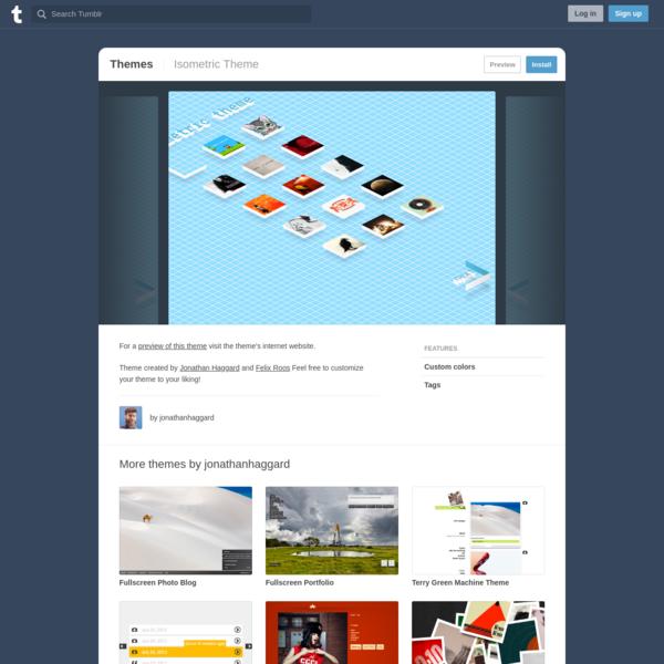 Isometric Theme | Tumblr