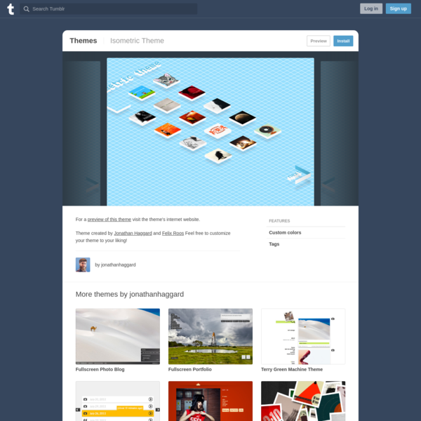 Isometric Theme | Tumblr