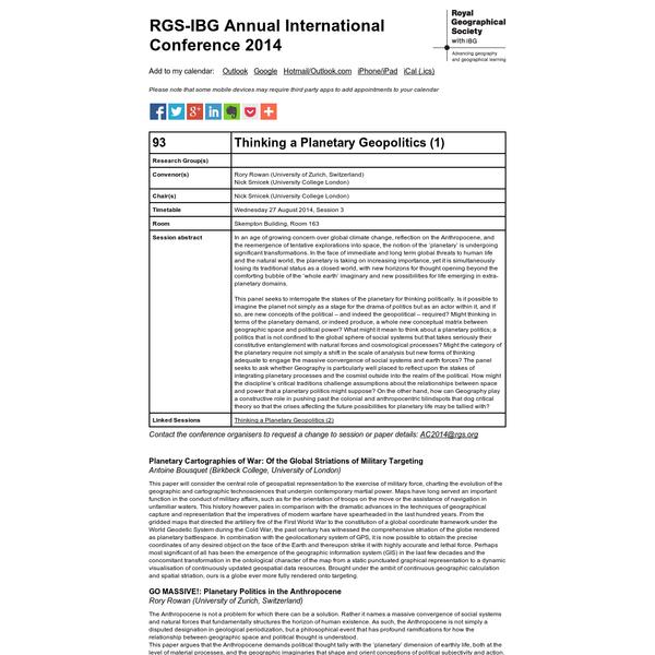 AC2014 - Thinking a Planetary Geopolitics (1)