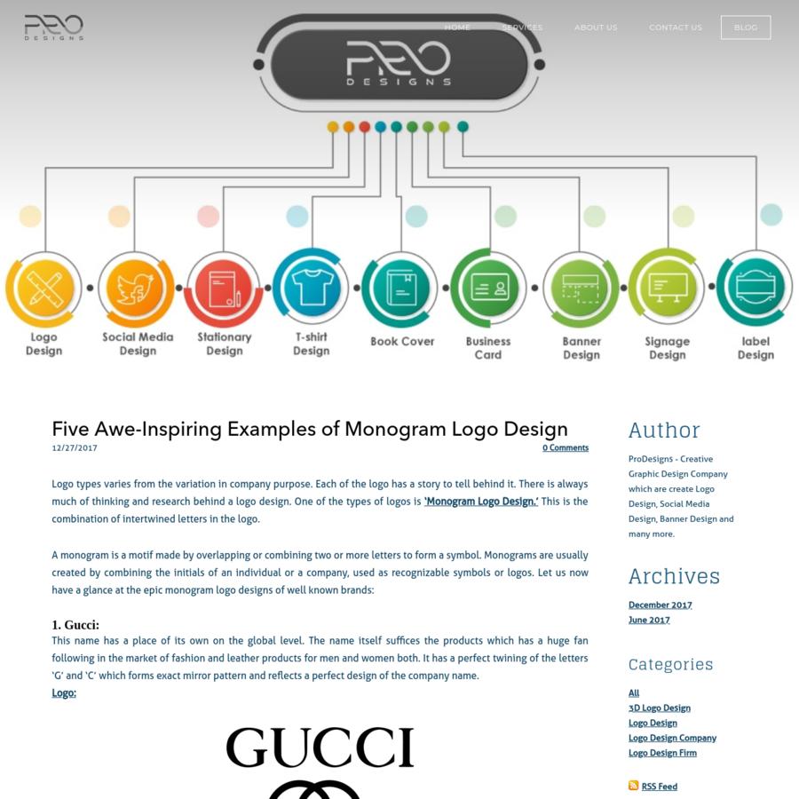 Are Five Awe Inspiring Examples Of Monogram Logo Design