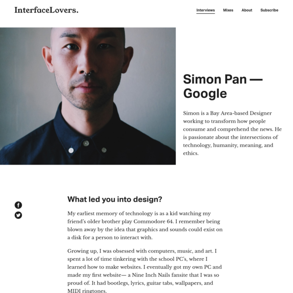 Interview: Simon Pan - Google