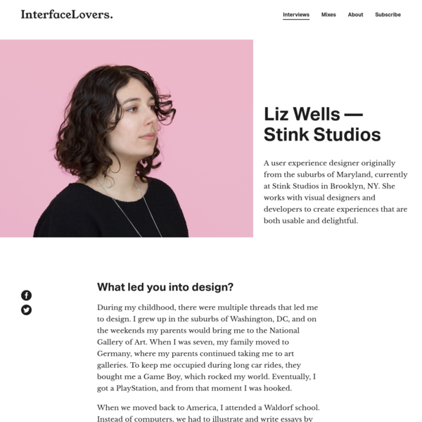 Interview: Liz Wells - Stink Studios